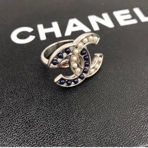 Chanel Silver CC Ring